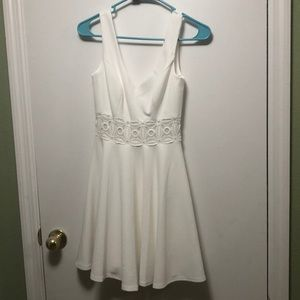 White dress with laced waist